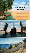 3- ALPENA, Michigan, USA, Postcards, Souvenir Folder - Etats-Unis
