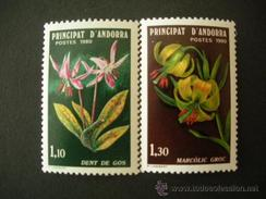 ANDORRA FRANCESA AÑO 1980 YVERT Nº 286/87 ** MNH - FLORES DE LOS VALLES DE ANDORRA - Andorre Français