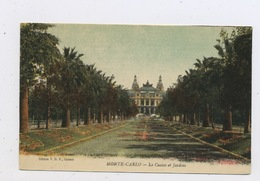 CPA:  MONACO -  MONTE CARLO - LE CASINO ET JARDINS - Monte-Carlo