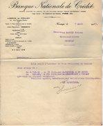 VP7218 - Lettre - Banque Nationale De Crédit à FECAMP & PARIS - Bank & Insurance
