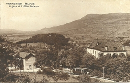 Monnetier Mairie (Haute Savoie, France) La Gare Avec Le Train Et L'Hotel Bellevue - France