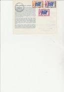LETTRE CONSEIL DE L'EUROPE AFFRANCHIE - TIMBRES SERVICE N° 27-28-32  - CAD 3 JANV 1963