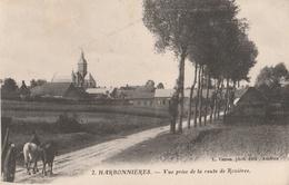 CPA Harbonnières Vue Prise De La Route De Rozières - Animée - Autres Communes