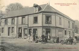 A-17-169 :  NOTRE-DAME-DU-HAMEL  CAFE LEGRAIN RUE DU CENTRE - France
