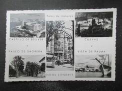 CP ESPAGNE ESPANA (M1612) ISLAS BALEARES MALLORCA (2 Vues) Multivue Hotel Londres Palma De Mallorca Cuevas Y Vista De Pa - Mallorca