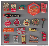 19 BADGE PIN SPÖ Sozialdemokratische Partei Österreichs Social Democratic Party Insigne Spilla Distintivo Anstecknadel - Pin's & Anstecknadeln