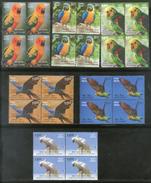 India 2016 Exotic Birds Parrots Blue Throated Macaw Wildlife 6v BLK/4 Set MNH - Parrots
