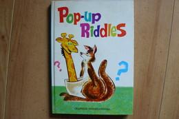 Pop Up - Livre Animé - Pop-Up Riddles - 1968 - Graphics International - Children's