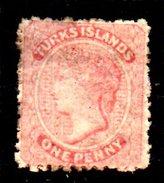 XP2508 - TURKS 1867 , Gibbons N. 1 Gomma Parziale - Turks E Caicos