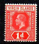 XP93 - BRITISH VIRGIN ISLANDS , 1 Penny Wmk Multi CA ** MNH - British Virgin Islands