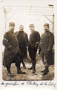 612Bce  Carte Photo Groupe De Soldats Poilus De La S.H.R. 124 Eme Regiment - Uniformi