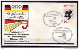 ALLEMAGNE  FDC   Cachet   OLDENBURG      Le 26-5- 1972     JO 1972   Ski  Hockey Sur Gazon