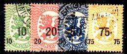 XP394 - FINLANDIA 1919 , N. 91/94 - Usati