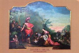 Malcesine - Santino Cartolina Grande DAVIDE E ABIGAIL (Boscaratti), Parrocchia S. Stefano Protomartire - PERFETTO N21 - Religione & Esoterismo