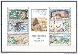 FRENCH WEST AFRICA 1958 CENTENARY Of  DAKAR S/S SC# C27A VF MNH SCARCE