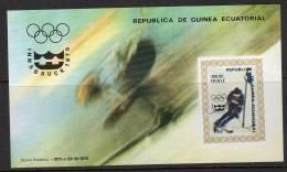 GUINEE EQUATORIALE - 1976 -   BLOC   N°216  ** NON DENTELE -   J.O INNSBRUCK 76