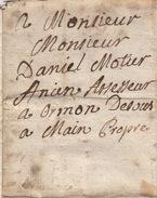 Lettre Pré-philatélique De Puidoux  Déc. 1785 à Ormonts Dessous, Mr L'Assesseur ... Cachet Privé SL - Autographes