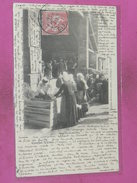 COUHE VERAC   1902   ARDT   MONTMORILLON   /  CANTON LUSIGNAN  /    MARCHAND D OEUF  JOUR DE FOIRE    EDIT    CIRC - Couhe