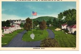 IRONWOOD, Michigan, USA, Mt. Zion Motor Court, Old Cook Linen Postcard - Etats-Unis