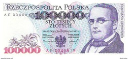 Poland - Pick 160 - 100.000 (100000) Zlotych 1993 - Unc - Polonia