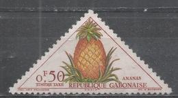Gabon 1962. Scott #J34 (M) Pineapple, Fruits * - Gabon (1960-...)