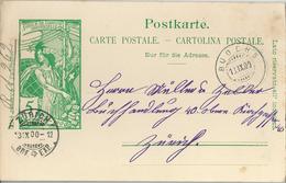 PK 31 UPU  Buochs - Zürich               1900 - Entiers Postaux