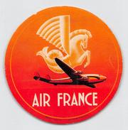 "D5242  ""AIR FRANCE - COMPAGNIA AEREA""  ETICHETTA ORIGINALE - ORIGINAL LABEL - Adesivi"
