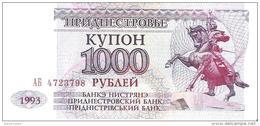 Transnistria - Pick 23 - 1000 Rublei 1993 - Unc - Banconote