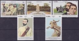 1996.17 CUBA. Ed.4117-21. 1996. MNH CENTENARIO DE LA MUERTE DE ANTONIO MACEO GRAJALES. INDEPENDENCE WAR. - Cuba