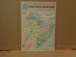 CARTOLINA D'EPOCA FASCISTA PUBBLICITARIA OMAGGIO AGIP ERITREA ETIOPIA SOMALIA - Pubblicitari