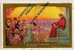 1921 - FIRENZE - Dante Alighieri - Rara Cartolina Illustrata Divina Commedia Carducci - Illustratori & Fotografie