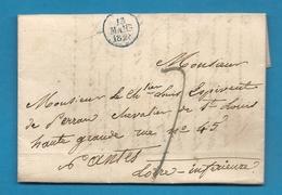 Chevalier Louis Espivent De Perrant, Chevalier De Perran . LAC De Paris Pour Nantes (Loire Inférieure) - Marcofilie (Brieven)