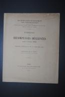 Rare Tableau Des Récompenses Décernées Médailles De La Société D'Encouragement Pour L'Industrie Nationale Année 1910 - Professionnels / De Société