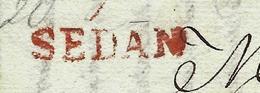 L.A.C.1820 SEDAN ENCRE ROUGE Par  PROFINEL PERE ET FILS Pour LILLE MM. FAVRE ET WETZEL NEGOCIANTS B.E. - Postmark Collection (Covers)