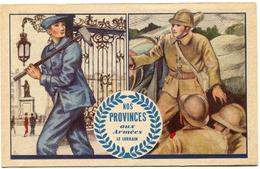 """FRANCE CARTE DE FRANCHISE MILITAIRE """"NOS PROVINCES AUX ARMEES LE LORRAIN"""" - Marcophilie (Lettres)"""