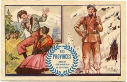 """FRANCE CARTE DE FRANCHISE MILITAIRE """"NOS PROVINCES AUX ARMEES LE SAVOYARD"""" - Marcophilie (Lettres)"""