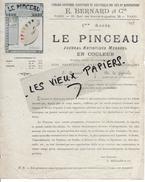75 - Paris - PARIS - Facture BERNARD - Librairie - Journal Mensuel LE PINCEAU - 0000 - REF 51D - 1900 – 1949