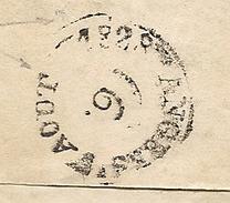 Paris Pour Angers (Maine Et Loire). Cachet D'arrivée Au Verso En Noir D'aout 1828 - Marcophilie (Lettres)