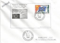 France 1966 Strasbourg Conseil De L'Europe Cover - Brieven En Documenten