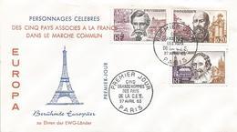 France 1963 Paris Emile Verhaeren Mayrisch Hugo De Groot Justice FDC Cover - 1960-1969