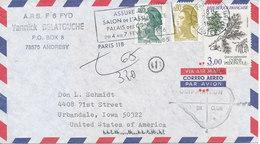 France Air Mail Cover Sent To USA Paris R.D. Amsterdam 26-1-1985 UNDERPAID - Poste Aérienne