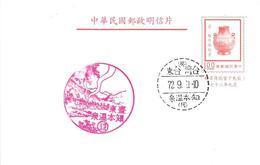 Taiwan 1972 Pottery Postal Stationary Postcard - 1945-... Republiek China