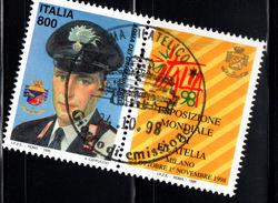 ITALIA  1998 Italia '98: Carabiniere Con Bandella / Used 1° Giorno - 6. 1946-.. República