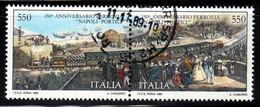 ITALIA  1989  Ferrovia Napoli-Portici / Used 1° Giorno - 6. 1946-.. Repubblica