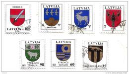 Latvia 2013 Definitive Stamp Coat Of Arms Small City Logo Cancer Elk Birds Sword  FULL SET  Used (0) - Lettland