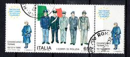 ITALIA  1986  Corpi Di Polizia  Con Bandella Usato - 6. 1946-.. República