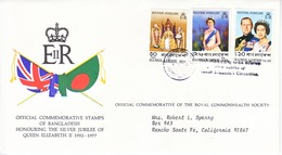 BANGLADESH  FDC  COVER  SILVER  JUBILEE  QE  II - Bangladesh