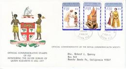 FIJI  FDC  COVER  SILVER  JUBILEE  QE  II - Fiji (1970-...)