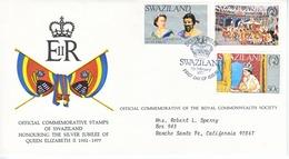 SWAZILAND  FDC  COVER  SILVER  JUBILEE  QE  II - Swaziland (1968-...)