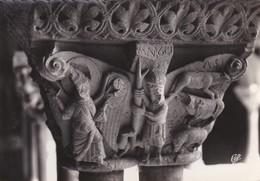 82-----MOISSAC---le Cloître-détail De Chapiteau XIIe S.-l'annonce Aux Bergers--voir 2 Scans - Moissac